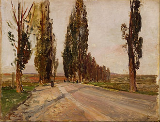 Emil Jakob Schindler - Image: Emil Jakob Schindler Boulevard of Poplars near Plankenberg Google Art Project