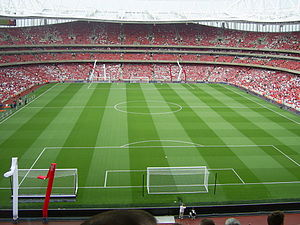 History of Arsenal F.C. (1966–present) - The Emirates Stadium on the day of Dennis Bergkamp's testimonial, the first match to be played there.