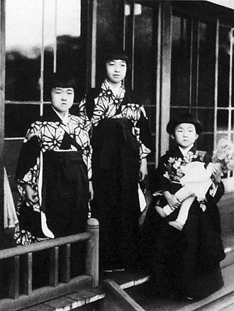 Kazuko Takatsukasa - Image: Emperor Showa's daughters
