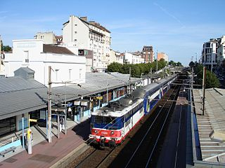 railway station in Enghien-les-Bains, France