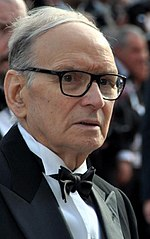 Photo of Ennio Morricone in 2012.