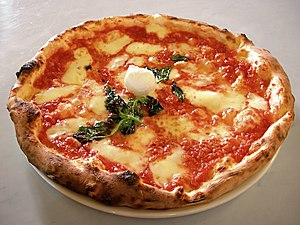 Picture of an authentic Neapolitan Pizza Margh...