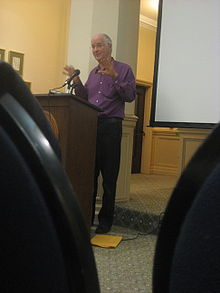 Ernest Callenbach, speaking at USF (3047987519).jpg