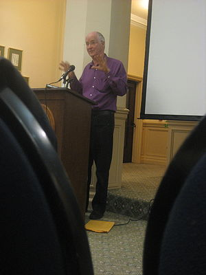 Ernest Callenbach - Ernest Callenbach, speaking at USF