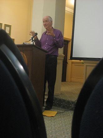 Ernest Callenbach - Ernest Callenbach, speaking at USF