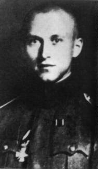 Ernst Jünger - Jünger during World War I, wearing the House Order of Hohenzollern.