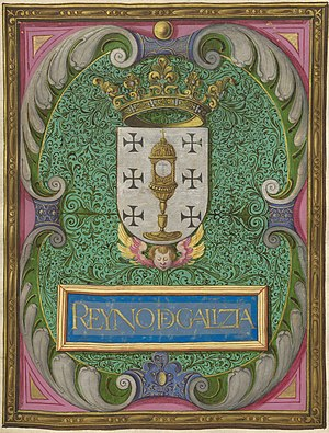 Coat of arms of Galicia (Spain) - Image: Escudo reyno de galizia
