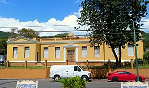 National Register of Historic Places listings in central Puerto Rico - Image: Escuela Washington Irving 1 Adjuntas Puerto Rico