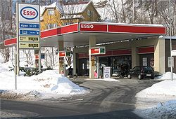 An Esso station in Stabekk, Norway