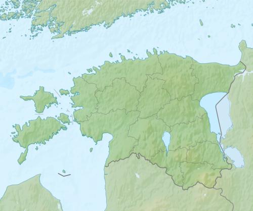 Естонија на мапи Естоније