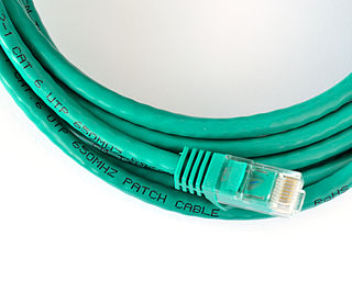 Patch cable cable used to connect one electronic or optical device to another