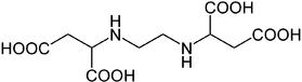 Struktur von Ethylendiamindibernsteinsäure