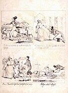 Ett frieri. Pauverstråhles hjerta blir förkastadt af hela familjen. Fritz von Dardel - Nordiska Museet - NMA.0043685