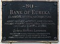 Eureka CA Bank of Eureka Eureka Plaque.jpg