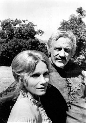 How the West Was Won (TV series) - Eva Marie Saint and James Arness as Kate and Zeb Macahan