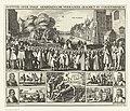 Executie van Reinier van Oldenbarnevelt, David Coorenwinder en Adriaan van Dijk, 1623 Iustitle over enige Arminiaensche verraders, geschiet in s'Gravenhaech (titel op object), RP-P-OB-81.044A.jpg