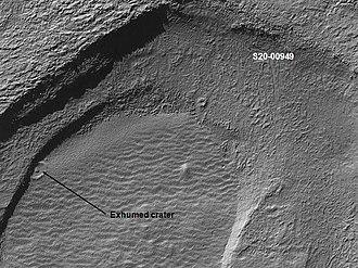 Noachis Terra - Image: Exhumed crater in Noachis