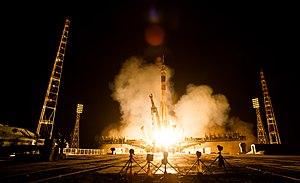 Soyuz TMA-13M - Image: Expedition 40 Launch (201405290009HQ)