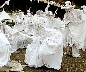 Olokun - Eyo Olokun masquerades at the Eyo Festival in Lagos, Nigeria