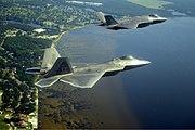 F-22A and F-35A over Emerald Coast
