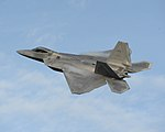 F-22 Raptor prepares to land at MacDill AFB for AirFest 2016 (25752208370).jpg