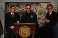 FEMA - 34815 - FEMA Administrator David Paulison at press conference with Governor Mike Beebe.jpg