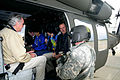 FEMA - 35656 - FEMA Administrator Paulison and Iowa Senator Harkins in helicopter.jpg
