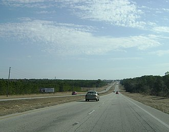 Florida State Road 44 - SR 44 as a divided highway west of Inverness.