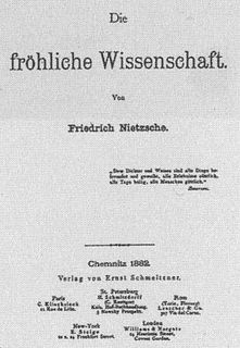 <i>The Gay Science</i> book by Friedrich Nietzsche