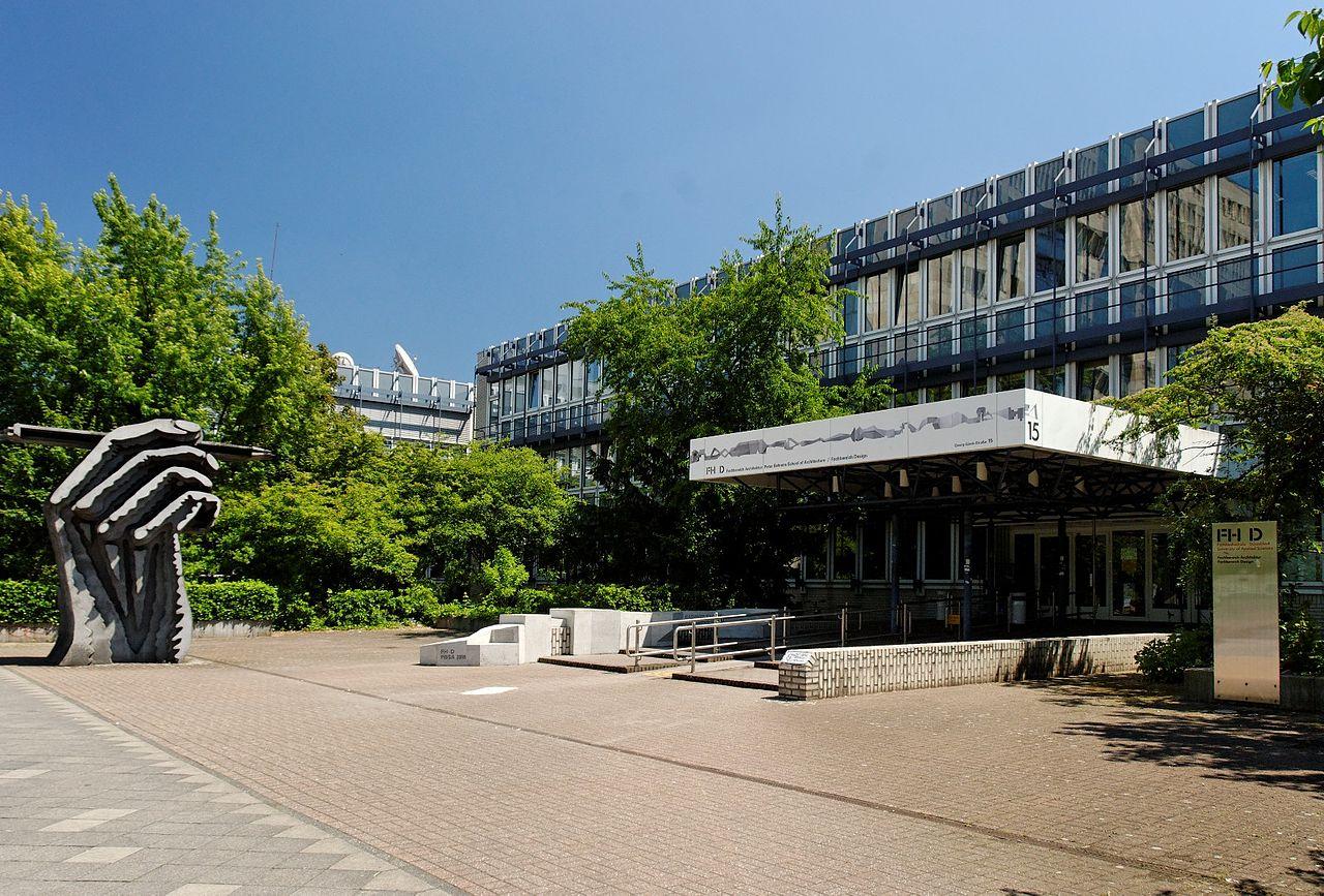 Datei:Fachhochschule in Duesseldorf-Golzheim, von Westen.jpg – Wikipedia