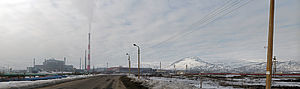 Monchegorsk - Nickel and copper producing factories in Monchegorsk