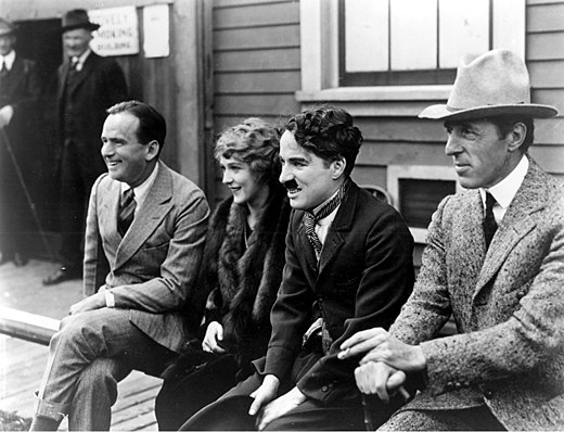 The first million dollar partners: Fairbanks, Pickford, Chaplin, and Griffith Fairbanks - Pickford - Chaplin - Griffith.jpg