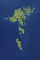 Faroe Islands NASA satellite image.