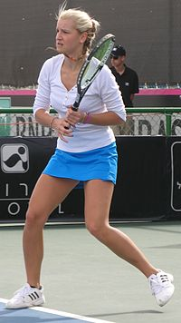 Fed Cup Group I 2013 Europe Africa day 3 Dea Herdzelas 003.JPG