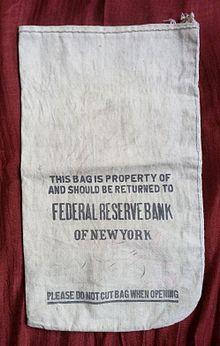 Borsa per monete metalliche della Federal Reserve Bank