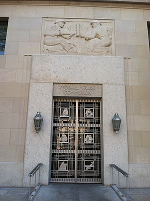 Federal Trade Commission - Federal Trade Commission entrance doorway in Washington, DC