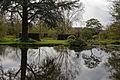 Feeringbury Manor garden pond reflections, Feering Essex England.jpg