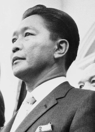 December 30: Ferdinand E. Marcos is the 10th President of the Philippines. Ferdinand Marcos at the White House.jpg
