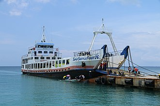 Roll-on/roll-off - Super Shuttle Ferry from Santa Fe, Bantayan to Cebu in the Philippines