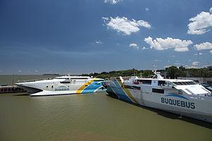 Buquebus - Buquebus vessels in Colonia del Sacramento, Uruguay