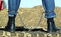 Fetters - leg irons - photomodel Ina.jpg