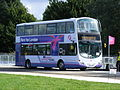 First Manchester Games Shuttle 37552 MX09 GYB - route 41 Park & Ride 2012 Olympics White Water Centre (7699947520).jpg