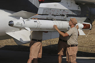 Kh-25 - Kh-25 being mounted on a Russian Su-24 at Khmeimim air base for use against Syrian insurgent targets