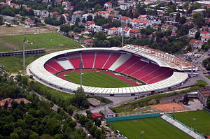 Red Star Belgrade - Rajko Mitić Stadium viewed from the air