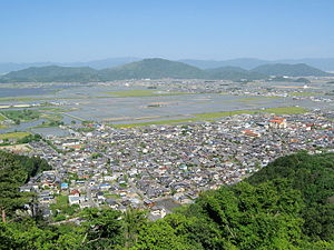 Ōmihachiman - Old city view from Mt. Hachiman