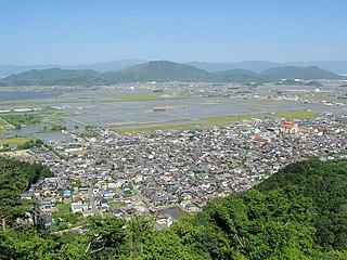 Ōmihachiman City in Kansai, Japan