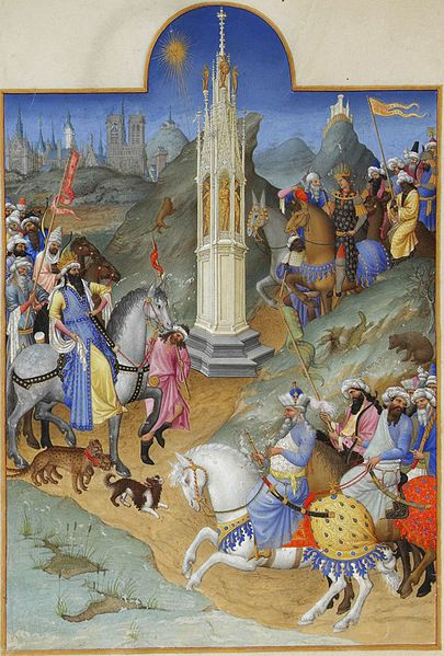 Bestand:Folio 51v - The Meeting of the Magi.jpg
