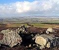 Football Cairn east of Glitteringstone - geograph.org.uk - 1151148.jpg