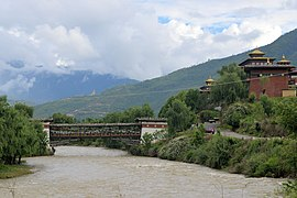 Footbridge near Tashichodzong, Thimphu.jpg