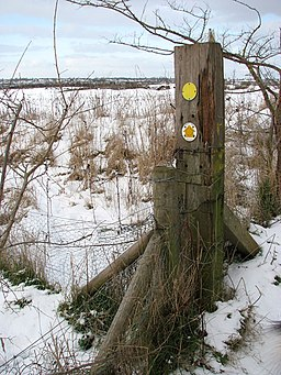 Footpath marker beside Boudica's Way - geograph.org.uk - 1656935